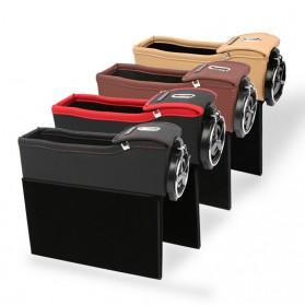 KWHEEL Kotak Organizer Penyimpanan Barang Mobil Seat Gap Filler Master - CL-005 - Black - 5