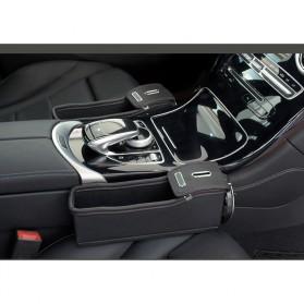KWHEEL Kotak Organizer Penyimpanan Barang Mobil Seat Gap Filler Master - CL-005 - Black - 7