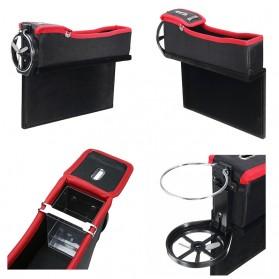 KWHEEL Kotak Organizer Penyimpanan Barang Mobil Seat Gap Filler Master - CL-005 - Black - 8