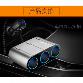 SAST Car Charger 4 USB Port 4.8A dengan 3 Socket Cigarette Plug - AY-T58 - Silver - 5