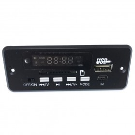 Modul Tape Audio MP3 Player Mobil dengan USB dan SD Card Slot - Black