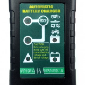 GKS Charger Aki Mobil Motor 4-Stage Deep Cycle Lead Acid Battery Charger 12V/6V 1.5A - 84V15Ah - Black - 7