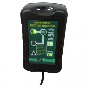 GKS Charger Aki Mobil Motor 4-Stage Deep Cycle Lead Acid Battery Charger 12V/6V 1.5A - 84V15Ah - Black - 8
