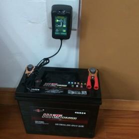 GKS Charger Aki Mobil Motor 4-Stage Deep Cycle Lead Acid Battery Charger 12V/6V 1.5A - 84V15Ah - Black - 9