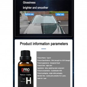DPRO Premium Coating Crystal Liquid Hydrophobic Pelindung Bodi Mobil 9H Type H 30ml - Black - 3