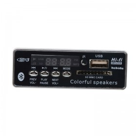 COD Modul Tape Bluetooth Audio MP3 Player Mobil dengan USB dan SD Card Slot - JQ-D028BT - Black - 4