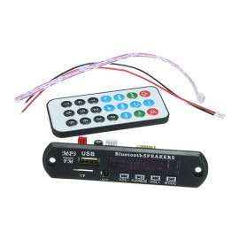 Modul Tape Bluetooth Audio MP3 Player Mobil dengan USB dan TF Card Slot - Black - 2