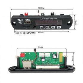 Modul Tape Bluetooth Audio MP3 Player Mobil dengan USB dan TF Card Slot - Black - 6