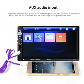 MP5 Media Player Monitor Mobil LCD Touchscreen 7 Inch with Rear View Camera - Black - 5