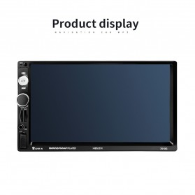MP5 Media Player Monitor Mobil LCD Touchscreen 7 Inch with Rear View Camera - Black - 8