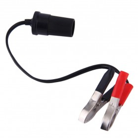 Sea Metal DIY Terminal Clip-on Aki Mobil Cigarette Plug Power Socket 12V - BQB