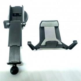 Universal Smartphone Car Holder Suction Cup Telescopic Neck - Black - 4