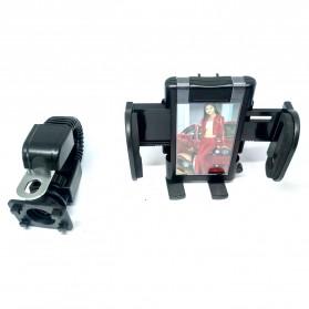 Universal Motorcycle Smartphone Holder - Black
