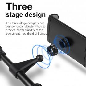 Redland Backseat Smartphone Tablet Car Holder Kepala Kursi Mobil - R11 - Black - 5