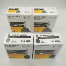 HID Xenon Lampu Mobil Headlight D4R 35W 6000K 2 PCS - White