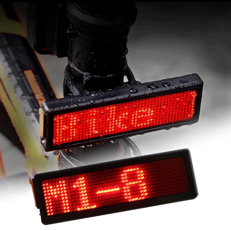 Lampu Belakang Sepeda LED Tail Light DIY Word Display - M1