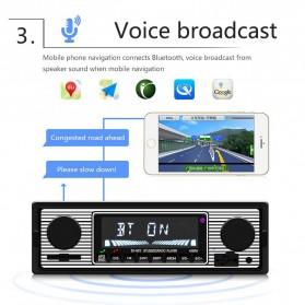 Camecho Audio Player Mobil 12V 1Din FM Receiver AUX USB SD Card Slot - SX-5513 - Black - 4