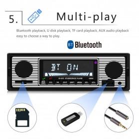 Camecho Audio Player Mobil 12V 1Din FM Receiver AUX USB SD Card Slot - SX-5513 - Black - 5