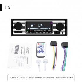 Camecho Audio Player Mobil 12V 1Din FM Receiver AUX USB SD Card Slot - SX-5513 - Black - 6