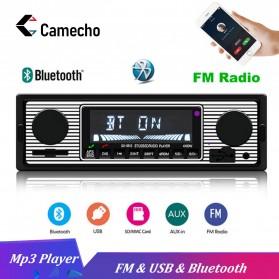 Camecho Audio Player Mobil 12V 1Din FM Receiver AUX USB SD Card Slot - SX-5513 - Black - 1