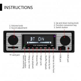Camecho Audio Player Mobil 12V 1Din FM Receiver AUX USB SD Card Slot - SX-5513 - Black - 2