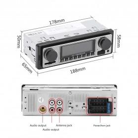 Camecho Audio Player Mobil 12V 1Din FM Receiver AUX USB SD Card Slot - SX-5513 - Black - 3