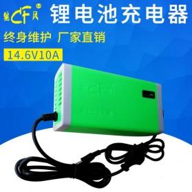 Li Dian Chi Charger Baterai Aki Mobil Motor 14.6V 10A - Green - 1