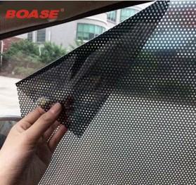 Stiker Sun Shade Kaca Jendela Mobil UV Protect - TTWO - Black - 4