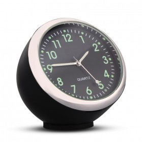 Dekorasi Mobil Jam Mini Quartz Clock Luminous - K01 - Black