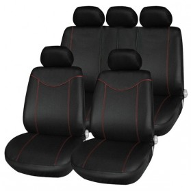 Tirol Cover Jok Kursi Mobil Universal Interior Styling Decoration 11 Set - Black
