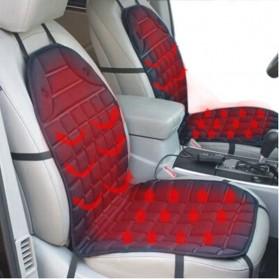 Cover Jok Kursi Mobil Non Slip dengan Heater 12V - Black