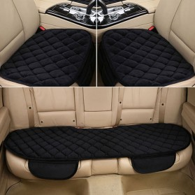 Cover Jok Kursi Mobil Cloth Cushion 3 Set - Black