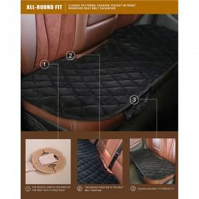 Cover Jok Kursi Mobil Cloth Cushion 3 Set - Black - 6
