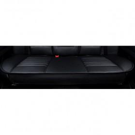 Cover Jok Kursi Mobil Universal Bahan Kulit - Back Seat 1 Set - Black