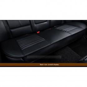 Cover Jok Kursi Mobil Universal Bahan Kulit - Back Seat 1 Set - Black - 2