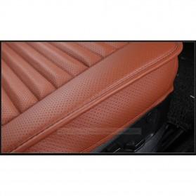 Cover Jok Kursi Mobil Universal Bahan Kulit - Back Seat 1 Set - Black - 5