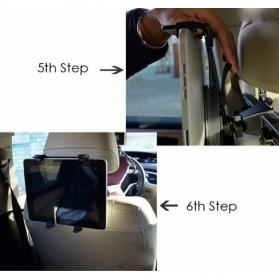 Tendway Backseat Smartphone Car Holder Mobil for Tablet 8-11 Inch - SBT-1104 - Black - 8