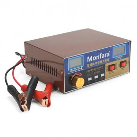MONFARA Charger Aki Mobil Lead Acid Smart Battery Charger 12V24V 6-400AH - MF-3S - Golden - 1