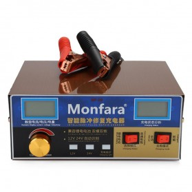MONFARA Charger Aki Mobil Lead Acid Smart Battery Charger 12V24V 6-400AH - MF-3S - Golden - 9