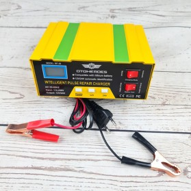 OTOHEROES Charger Aki Mobil Lead Acid Smart Battery Charger 12V/24V 6-105AH - MF-2B - Yellow