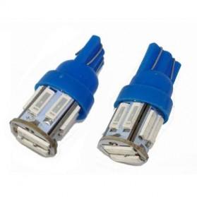 JIAMEN Lampu Mobil Headlight LED T10 W5W SMD 7020 2 PCS - PN-RGB - Blue