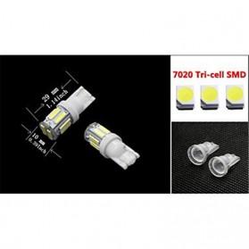 JIAMEN Lampu Mobil Headlight LED T10 W5W SMD 7020 2 PCS - PN-RGB - Blue - 2