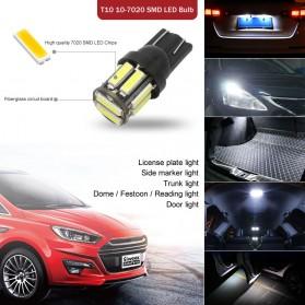 JIAMEN Lampu Mobil Headlight LED T10 W5W SMD 7020 2 PCS - PN-RGB - Blue - 4