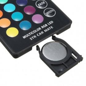 Lampu LED RGB Mobil T10 6 SMD 5050 2W 12V 2 PCS + Remote Control - Multi-Color - 4