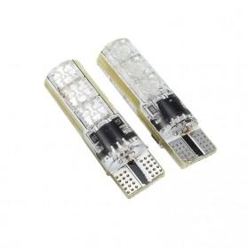 Lampu LED RGB Mobil T10 6 SMD 5050 2W 12V 2 PCS + Remote Control - Multi-Color - 5