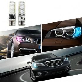 Lampu LED RGB Mobil T10 6 SMD 5050 2W 12V 2 PCS + Remote Control - Multi-Color - 6