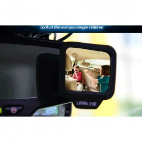 Kaca Spion Mobil Wide Angle 270 Rear Seat Rearview Mirror - 3R-2130 - Black - 4