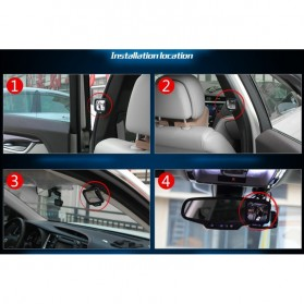 Kaca Spion Mobil Wide Angle 270 Rear Seat Rearview Mirror - 3R-2130 - Black - 6