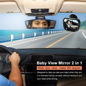 Kaca Spion Back Seat Kids Monitoring - Black - 8