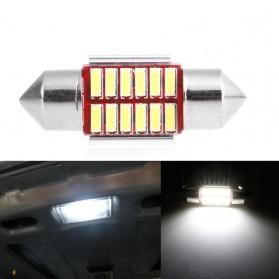 Lampu Mobil Headlight LED Canbus 4014 20SMD 39mm 1 PCS - White - 4
